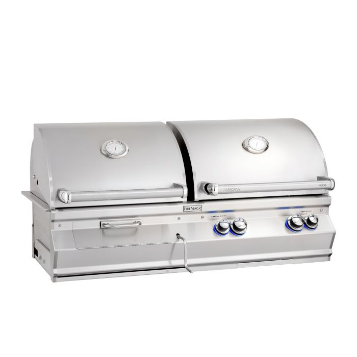 Fire Magic Aurora A830i Built-In Analog Series Gas and Charcoal Combination Grill