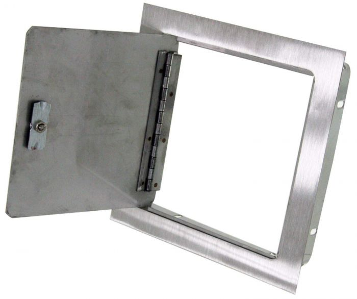Hearth Products Controls Recessed Mount Stainless Steel Access Door, 8x8 Inch