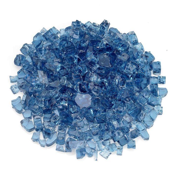 American Fireglass 10-Pound Classic Fire Glass, 1/2 Inch, Pacific Blue