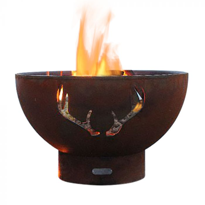 Fire Pit Art Antlers Gas Fire Pit