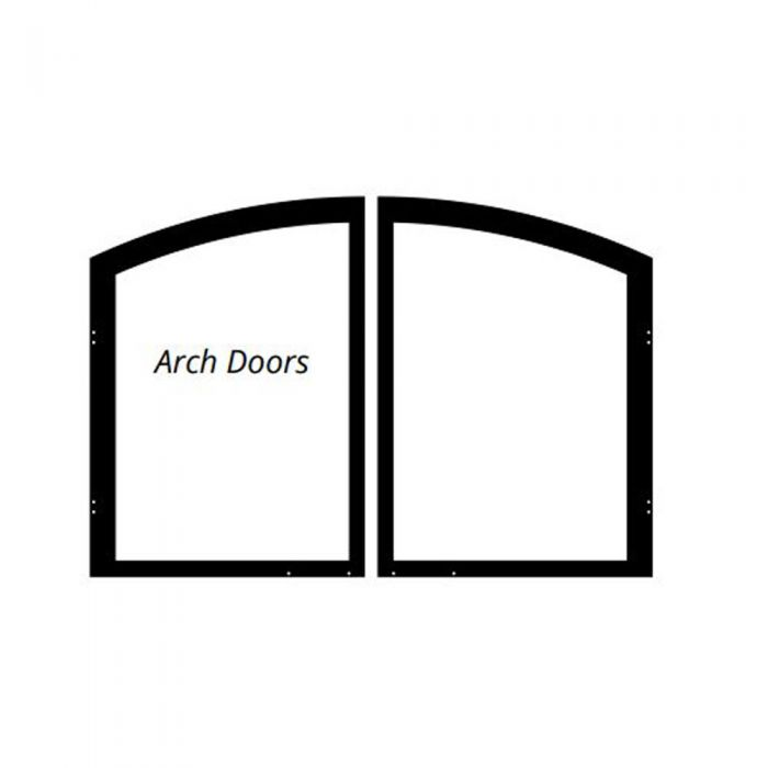 White Mountain Hearth Vfr36s Decorative Arch Doors For