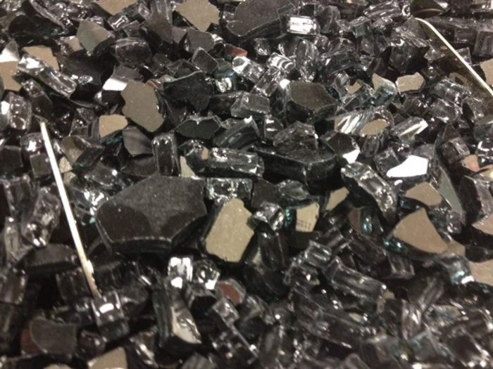 The Outdoor GreatRoom Company GFC-CRUSH-B 5-Pound Crushed Fire Glass, Black Reflective Glass