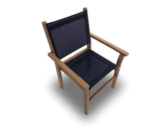 Royal Teak Collection CAP Captiva Sling Stacking Chair