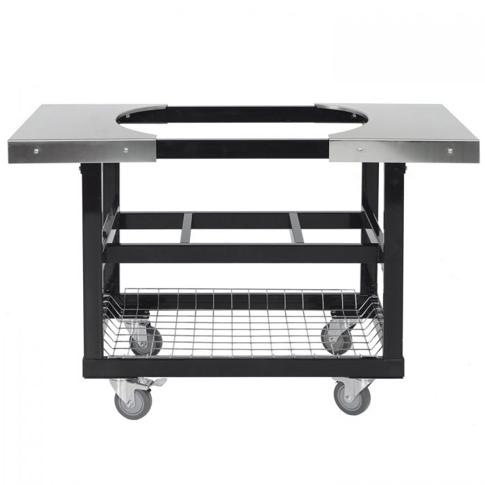 The Primo Stainless Steel Cart w/ Stainless Steel Side Shelves