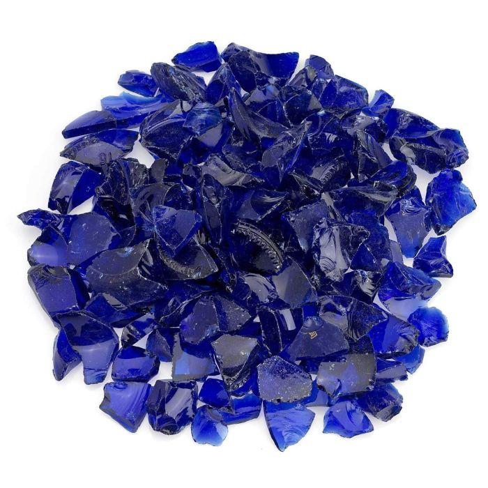 American Fireglass 10-Pound Recycled Fire Glass, 3/4 Inch, Dark Blue
