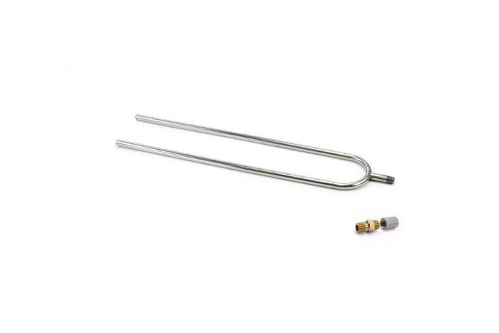 Hearth Products Controls Dual Stainless Steel Fireplace U-Burner, 30x6-Inch, Propane