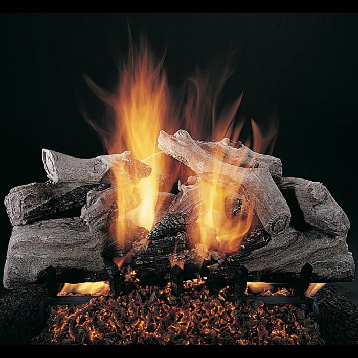 Rasmussen DF-EC-Kit Double Sided Evening Campfire Series Complete Fireplace Log Set