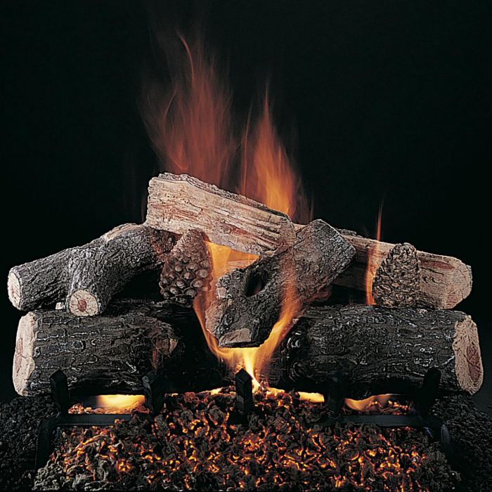 Rasmussen DF-ELS-Kit Double Sided Evening Lone Star Series Complete Outdoor Fireplace Log Set