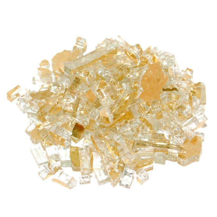 Real Fyre GL-10-HR Gold Reflective Fire Glass, 10 Pounds
