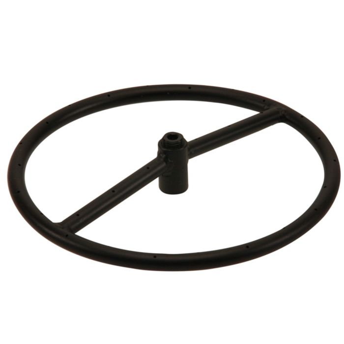 Hearth Products Controls Round Black Iron Fire Pit Burner, 12-Inch, Natural Gas