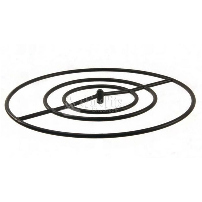 Hearth Products Controls Round Black Iron Fire Pit Burner, 30-Inch, Natural Gas