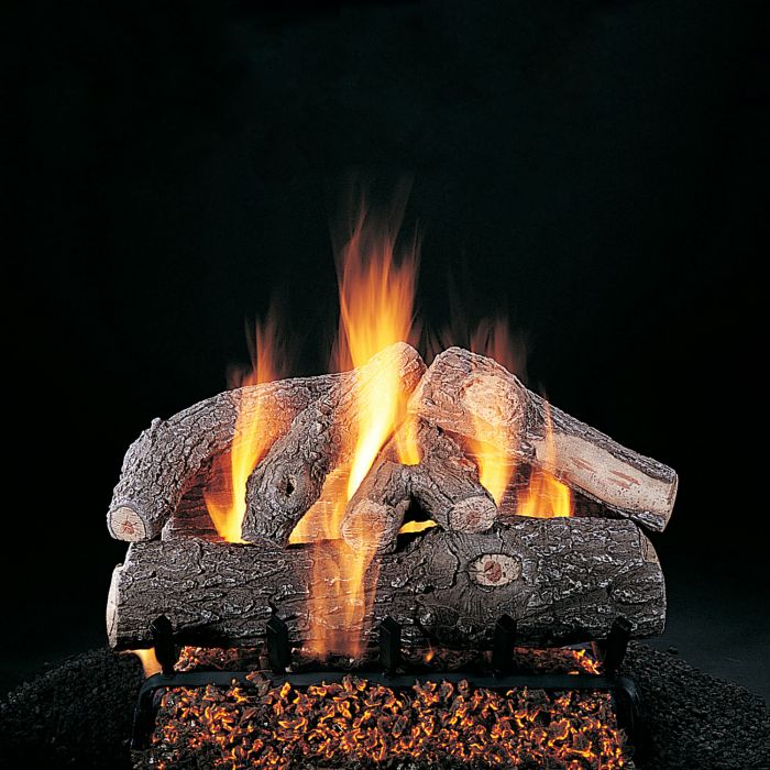 Rasmussen S-Kit Frosted Oak Series Complete Fireplace Log Set
