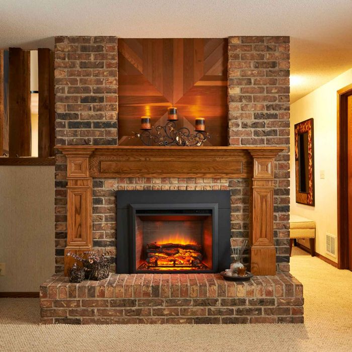GreatCo Gallery Series Insert Electric Fireplace, 36-Inch Surround