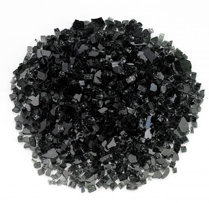 Rasmussen GLX-BL Black Fire Glass, 10-Pounds