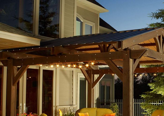 The Outdoor GreatRoom Company ROOF-METAL Lodge II Pergola Metal Roof - Roof Only