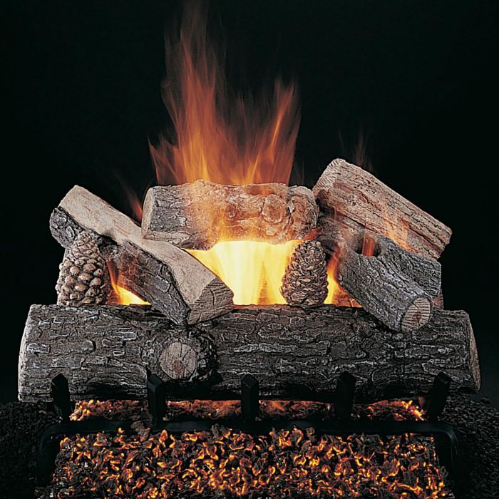Rasmussen DF-LS-Kit Double Sided Lone Star Series Complete Fireplace Log Set