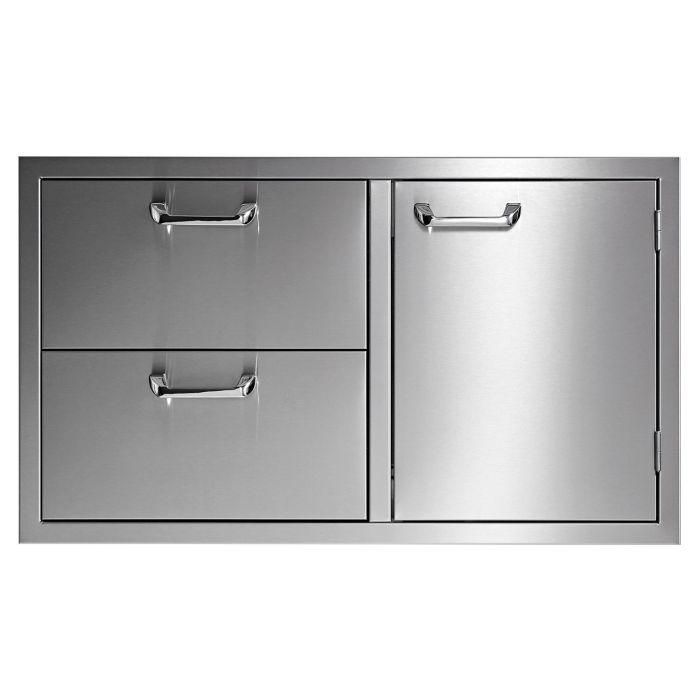 Sedona By Lynx Sedona Series Storage Door & Double Drawer Combo, 36-Inch