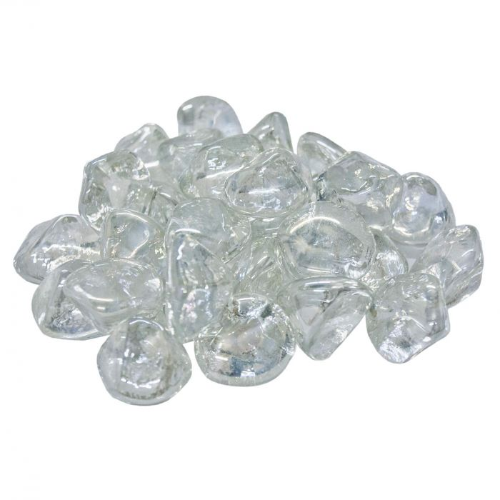 Real Fyre GLD-10-C Clear Diamond Nuggets, 10 Pounds