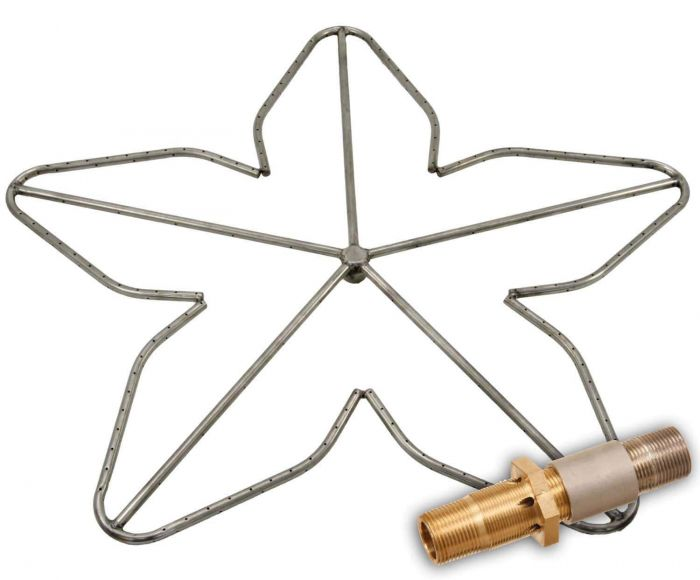 Hearth Products Controls Penta Stainless Steel Fire Pit Burner, 48-Inch, Propane