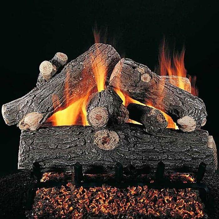 Rasmussen DF-PR-Kit Double Sided Prestige Oak Series Complete Fireplace Log Set