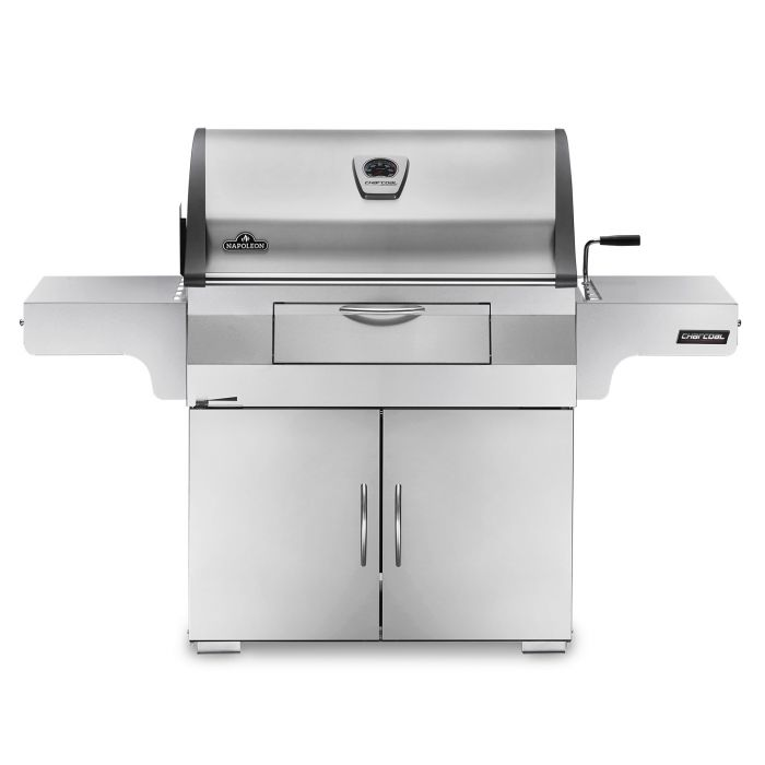 Napoleon PRO605CSS Professional Charcoal Grill on Cart