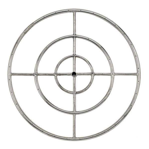 American Fireglass Round Stainless Steel Fire Pit Burner, 30-Inch, Natural Gas
