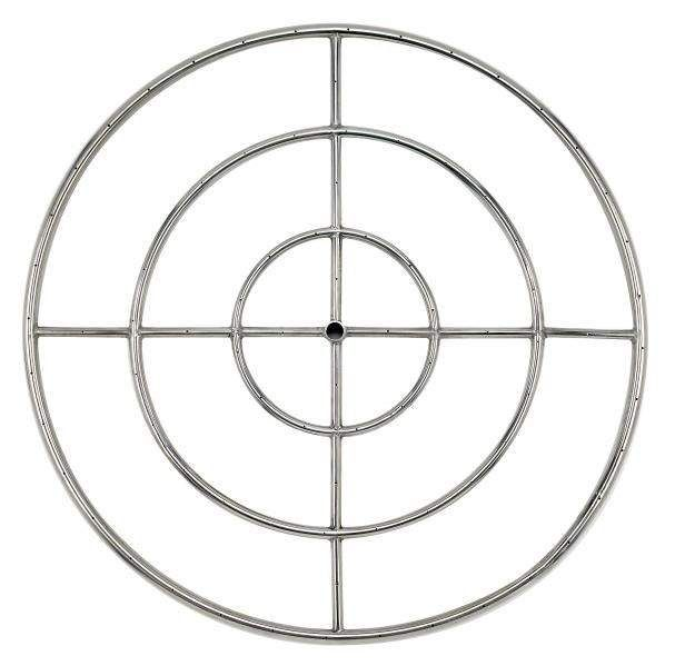American Fireglass Round Stainless Steel Fire Pit Burner, 36-Inch, Natural Gas