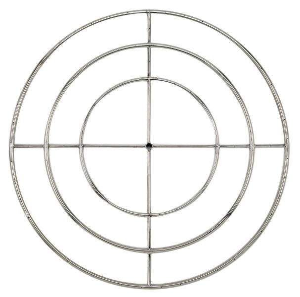 American Fireglass Round Stainless Steel Fire Pit Burner, 48-Inch, Natural Gas
