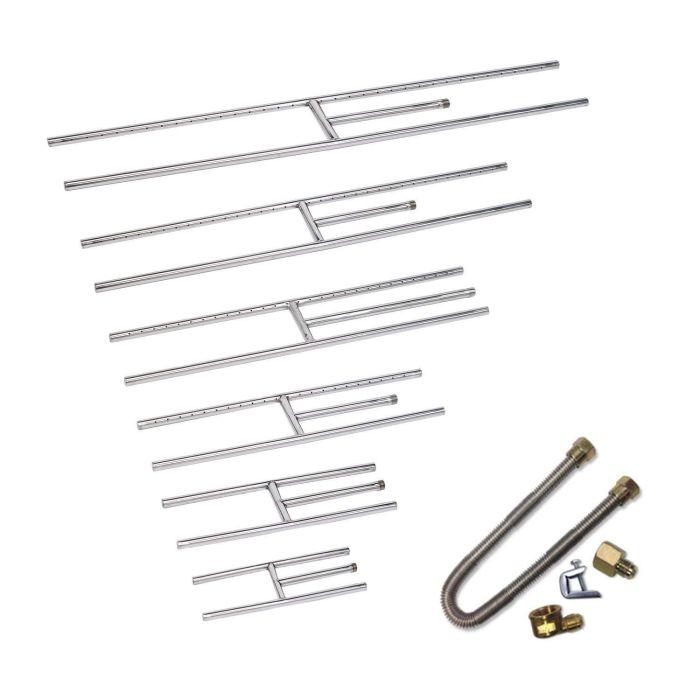 Rectangular Stainless Steel Fireplace H-Burner