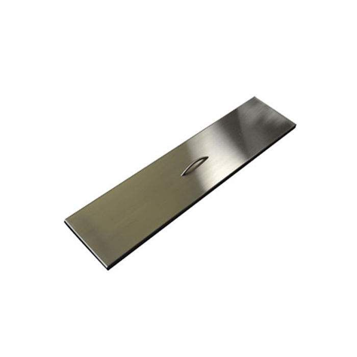 Hearth Products Controls Rectangular Stainless Steel Fire Pit Cover, 64x9.5 Inch