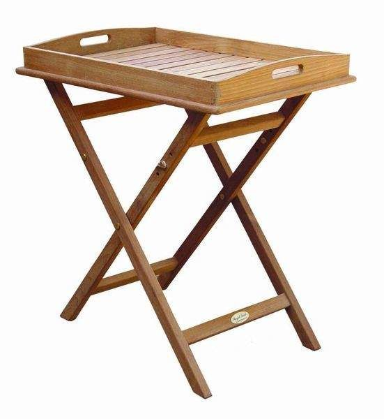 Royal Teak Collection TRST Teak Tray on Stand