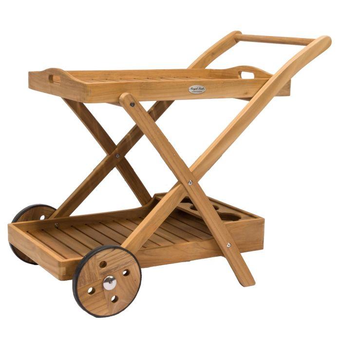 Royal Teak Collection TTC Teak Tray Cart