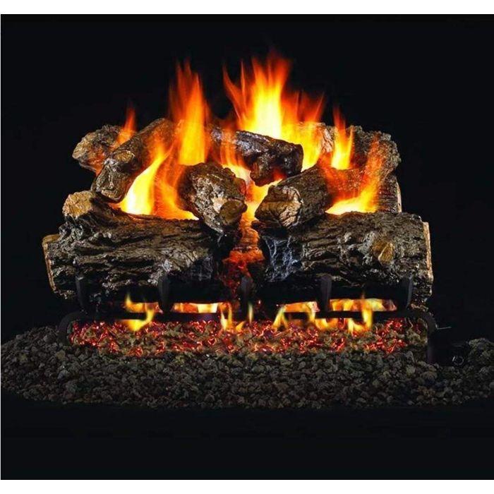 Real Fyre HCHR Burnt Rustic Oak Vented Gas Log Set