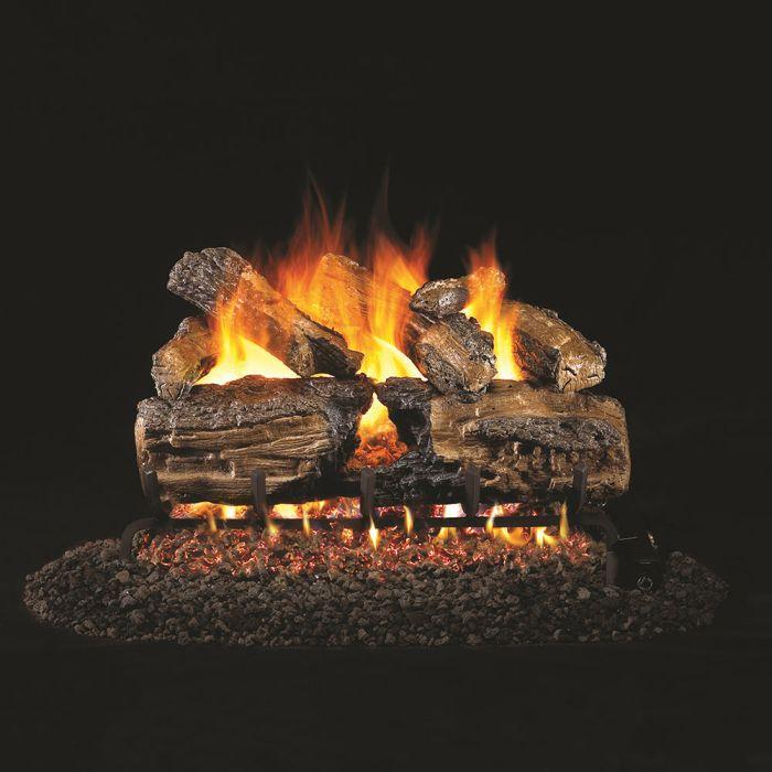 Real Fyre Burnt Split Oak Vented Gas Log Set, ANSI Certified