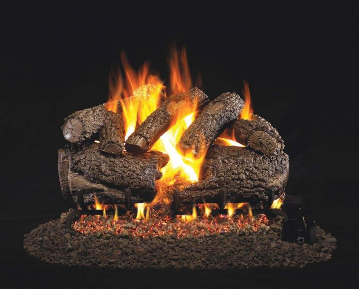 Real Fyre CHF Charred Forest Oak Vented Gas Log Set