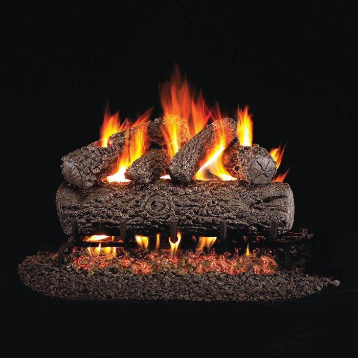Real Fyre Post Oak Vented Gas Log Set, ANSI Certified