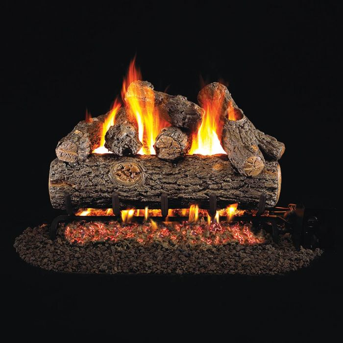 Real Fyre Golden Oak Designer Plus Vented Gas Log Set, ANSI Certified