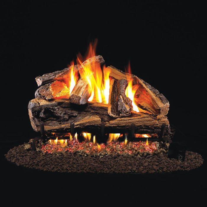 Real Fyre Rugged Split Oak Designer Vented Gas Log Set, ANSI Certified