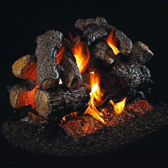 Real Fyre Charred Royal English Oak Vented Gas Log Set
