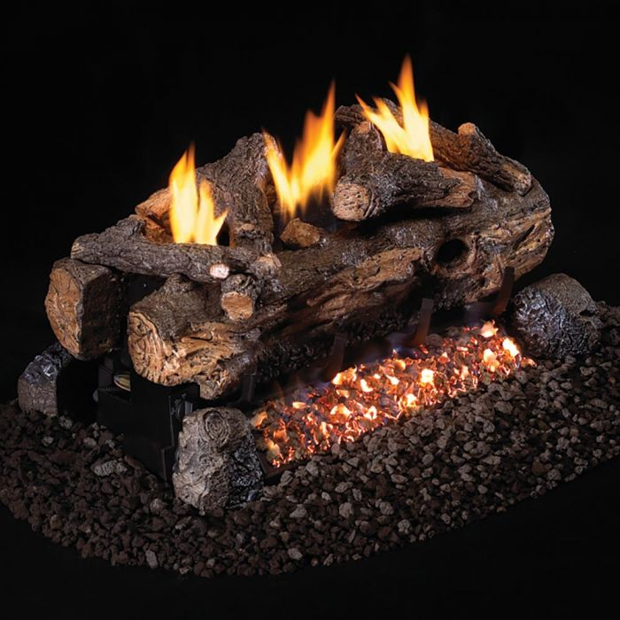 Real Fyre ESV-2 Vent Free Gas Log Set - For 2-Sided Fireplaces