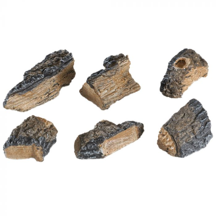 Real Fyre WCH-6 Charred Wood Chips, Set of Six