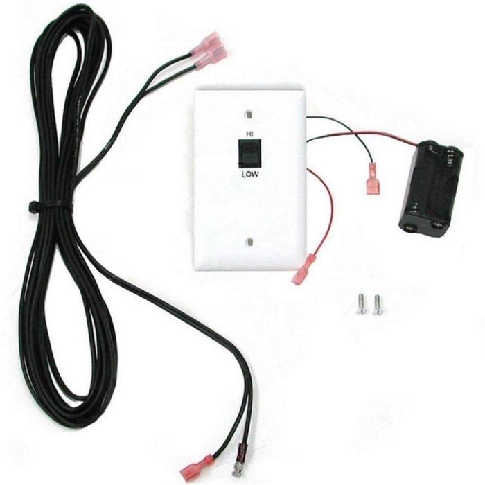 Real Fyre WS-3 HI/LO Wall Switch with Cover and Wiring for -15 and -17 Pilots Kits Only