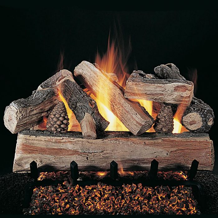 Rasmussen DF-XF-Kit Double Sided CrossFire Series Complete Fireplace Log Set