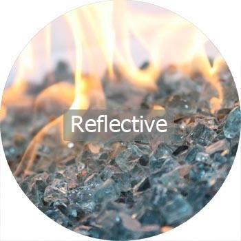 Refeflective Fire Glass